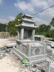 mộ đá 3 mái mẫu 04