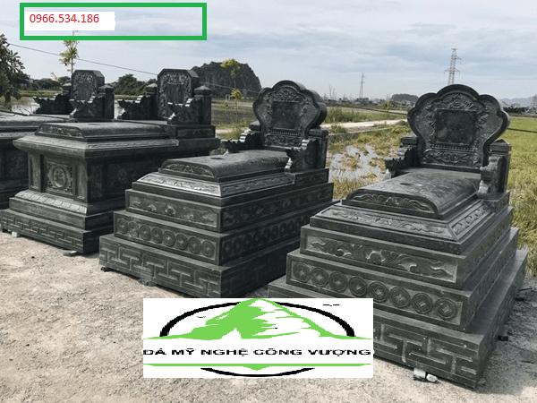 mộ tam sơn không mái đá xanh rêu